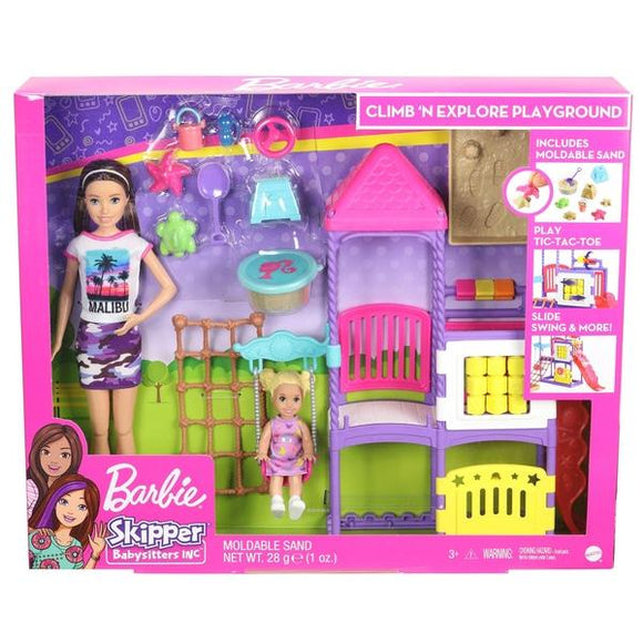 Barbie Skipper Babysitters Inc Playground Dolls & Playset - McGreevy's Toys Direct