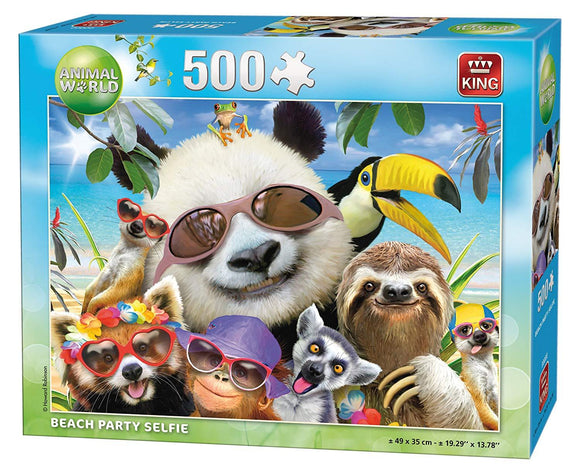Beach Party Selfie Puzzle 500pcs - McGreevy's Toys Direct