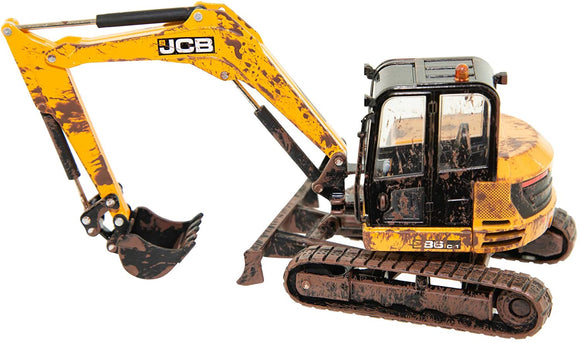Britains Muddy JCB Midi Excavator 1:32 Scale - McGreevy's Toys Direct