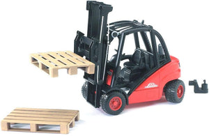 BRUDER 2511 Linde H30D Forklift with 2 Pallets - McGreevy's Toys Direct