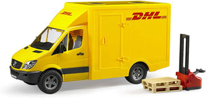 BRUDER 2534 Mercedes Benz Sprinter DHL with Hand Pallet Truck - McGreevy's Toys Direct