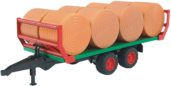 Bruder Bale Trailer with 8 Round Bales 1:16 Scale - McGreevy's Toys Direct