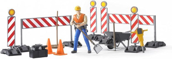 Bruder bWorld Construction Set with Figure - McGreevy's Toys Direct