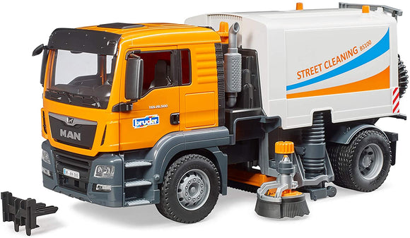 BRUDER MAN TGS Street Sweeper - McGreevy's Toys Direct