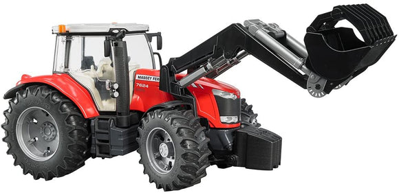 Bruder MASSEY FERGUSON 7624 WITH FRONTLOADER - McGreevy's Toys Direct