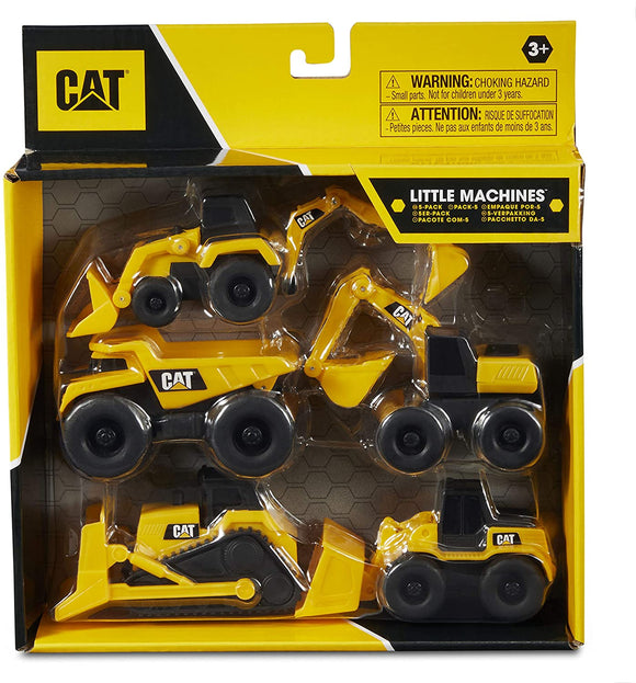 CAT Construction Little Machines 5 Pack Assortment - McGreevy's Toys Direct