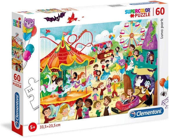 Clementoni Amusement Park Supercolour Puzzle 60pcs - McGreevy's Toys Direct