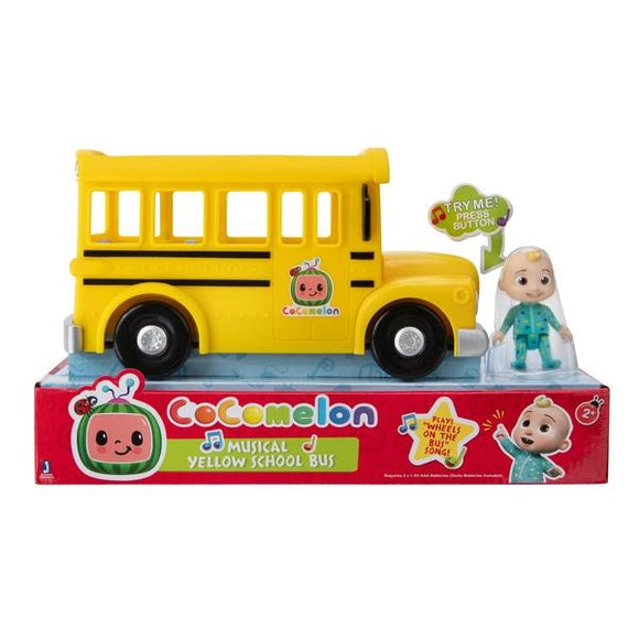 CoComelon Musical Yellow School Bus with JJ Figure - McGreevy's Toys Direct
