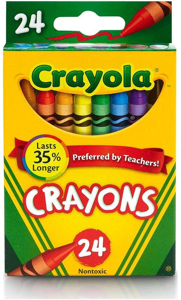 Crayola 24 Crayons - McGreevy's Toys Direct