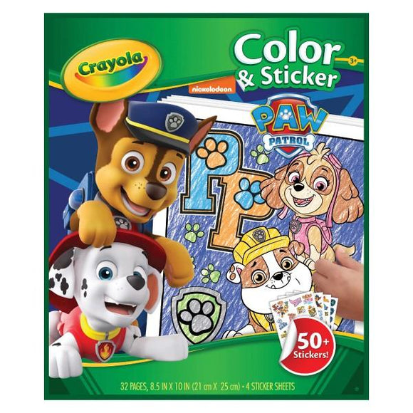 Crayola Colour & Sticker Book - PAW Patrol - McGreevy's Toys Direct