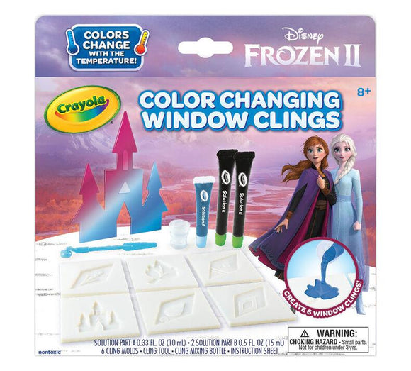 Crayola Frozen 2 Colour-Changing Window Clings - McGreevy's Toys Direct