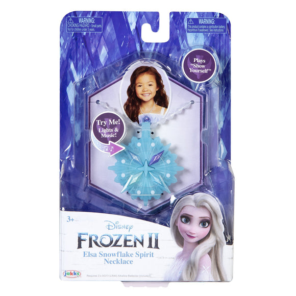 Disney Frozen 2 Elsa Snowflake Spirit Necklace - McGreevy's Toys Direct