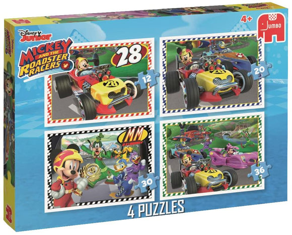 Disney Mickey & the Roadster Racers 4-in-1 Puzzle Set - McGreevy's Toys Direct