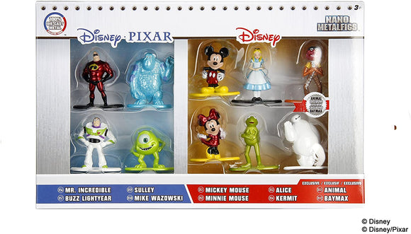 Disney/Pixar Nano Metalfigs Collector's 10 Pack - McGreevy's Toys Direct