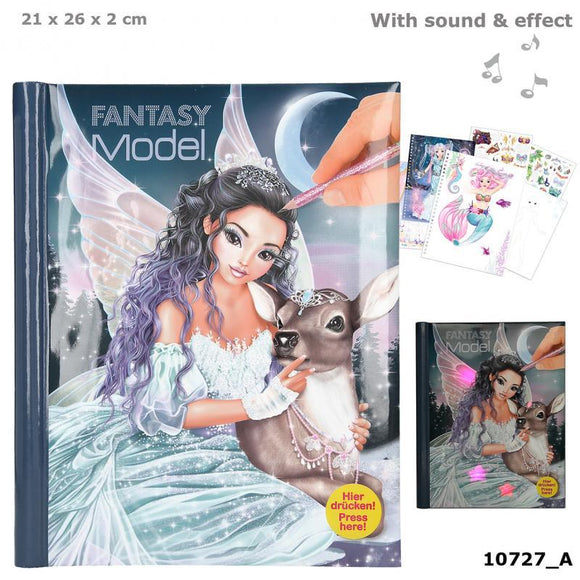 Fantasy Model Colouring Book with LED & Sound - Ice Princess - McGreevy's Toys Direct