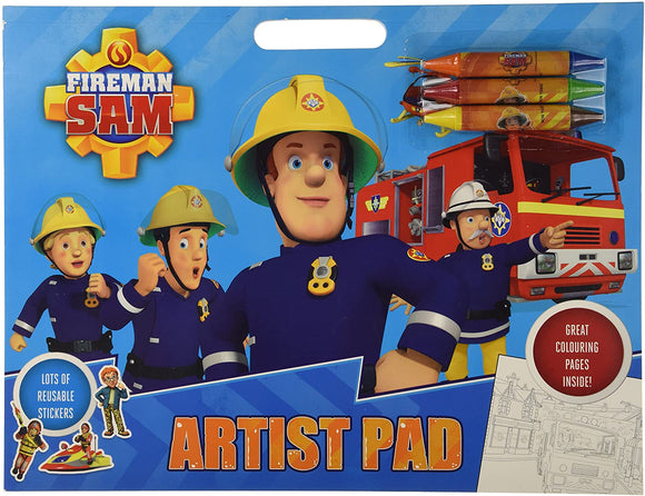 FIREMAN SAM Artist Pad - McGreevy's Toys Direct