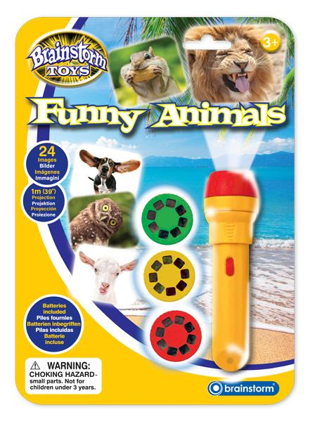 Funny Animals Torch and Projector - McGreevy's Toys Direct