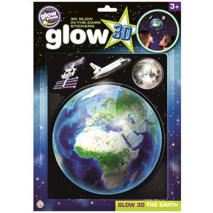 Glow 3D Earth Stickers - McGreevy's Toys Direct