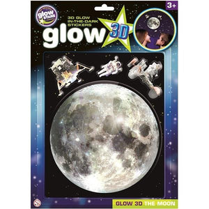 Glow 3D Moon Stickers - McGreevy's Toys Direct