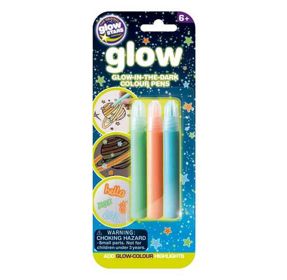 Glow in the Dark Pens 3 Pack - McGreevy's Toys Direct