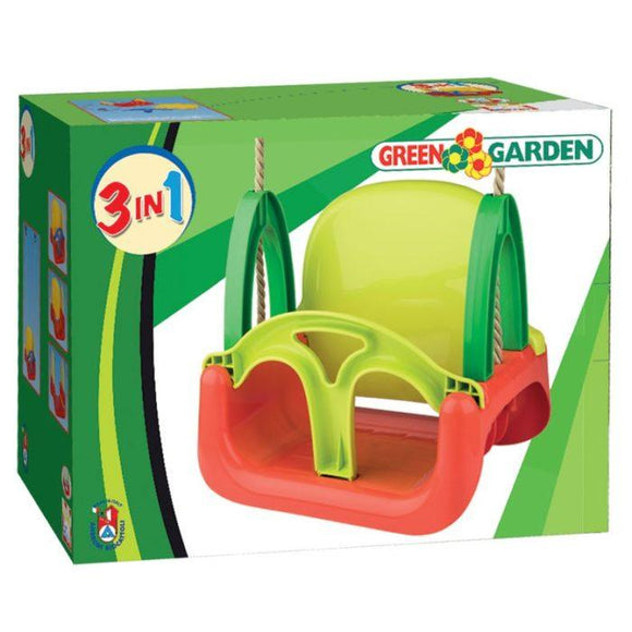 Green Garden 3 in 1 Kids Swing Seat - McGreevy's Toys Direct