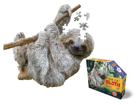 I Am Lil' Sloth Jigsaw Puzzle - 100 Pieces - McGreevy's Toys Direct