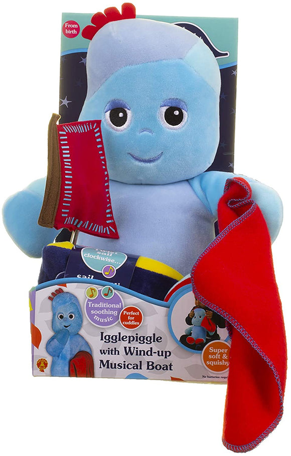 Igglepiggle with Wind-Up Musical Boat - McGreevy's Toys Direct