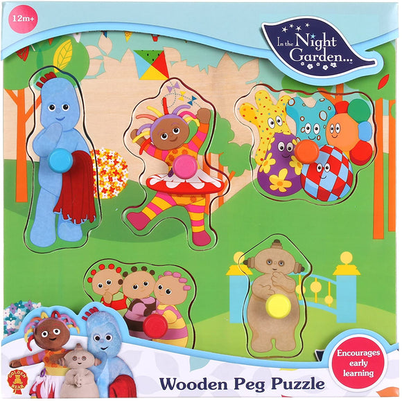 In the Night Garden Wooden Peg Puzzle - McGreevy's Toys Direct