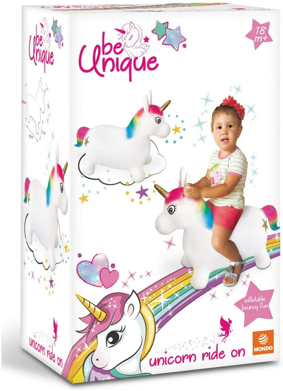 Inflatable Unicorn Ride On - McGreevy's Toys Direct