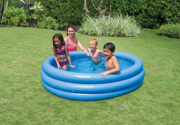 Intex Crystal Blue 3-ring Paddling Pool - McGreevy's Toys Direct