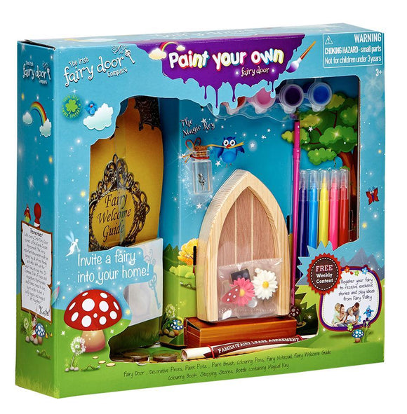 Irish Fairy Door Paint Your Own Door - McGreevy's Toys Direct