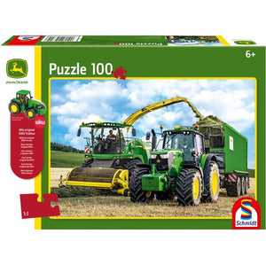 John Deere 649m Tractor with 8500i Harvester 100 Piece Puzzle - McGreevy's Toys Direct