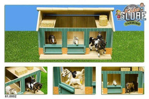 Kids Globe Wooden Horse Stable 1:24 Scale - McGreevy's Toys Direct