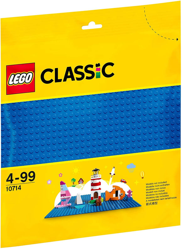 LEGO 10714 Classic Blue Baseplate 25cm x 25cm - McGreevy's Toys Direct