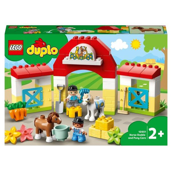 LEGO 10951 DUPLO Horse Stable and Pony Care - McGreevy's Toys Direct