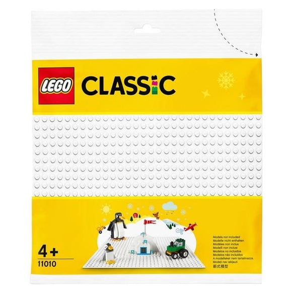 Lego 11010 Classic White Baseplate 25cm x 25cm - McGreevy's Toys Direct