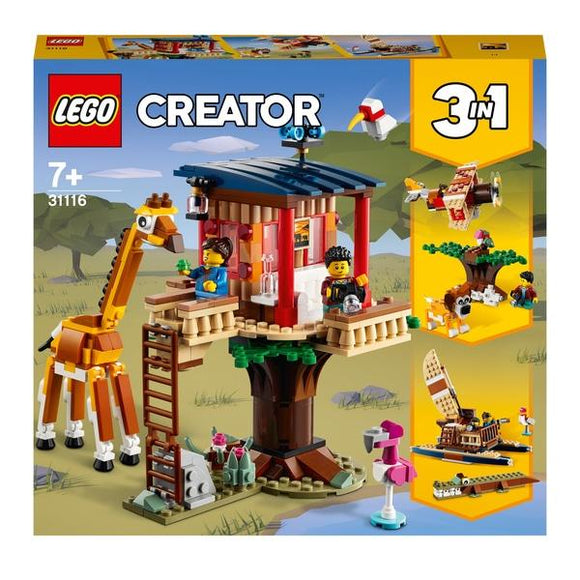 LEGO 31116 Creator 3-in-1 Safari Wildlife Tree House - McGreevy's Toys Direct