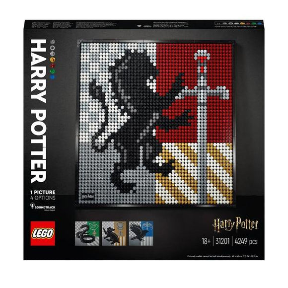 LEGO 31201 Art Harry Potter Hogwarts Crests - McGreevy's Toys Direct