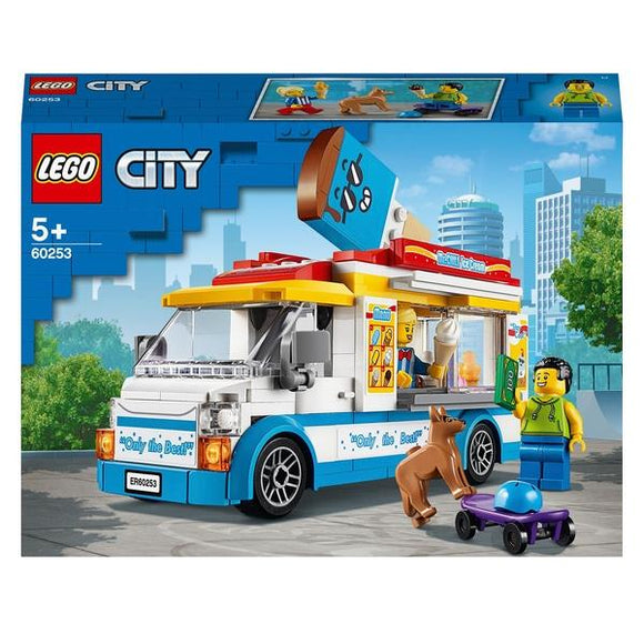 LEGO 60253 City Great Vehicles Ice-Cream Truck Building Set - McGreevy's Toys Direct