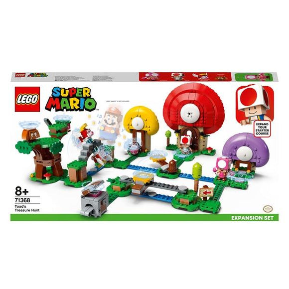 LEGO 71368 Super Mario Toad's Treasure Hunt - McGreevy's Toys Direct