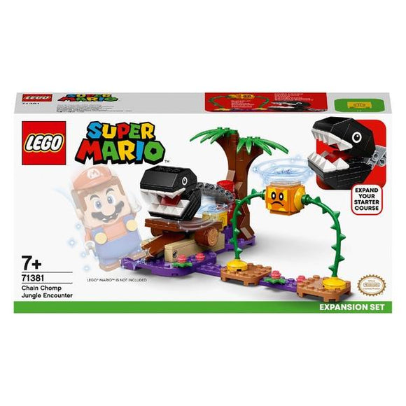 LEGO 71381 Super Mario Chain Chomp Jungle Encounter Expansion Set - McGreevy's Toys Direct