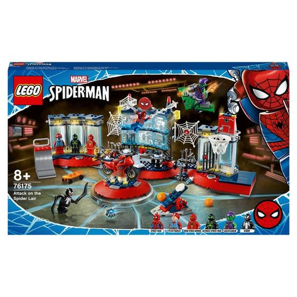 LEGO 76175 Marvel Spiderman Attack on the Spider Lair - McGreevy's Toys Direct