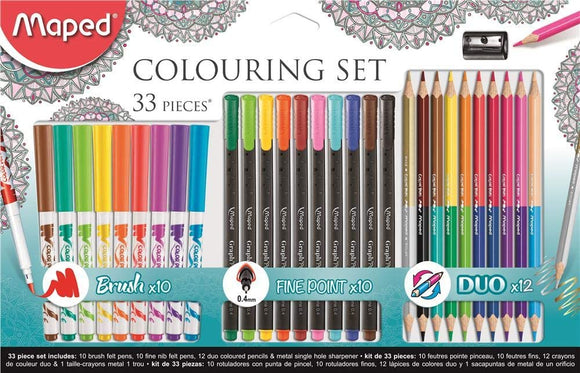 Maped 33 Piece Colouring Set - McGreevy's Toys Direct