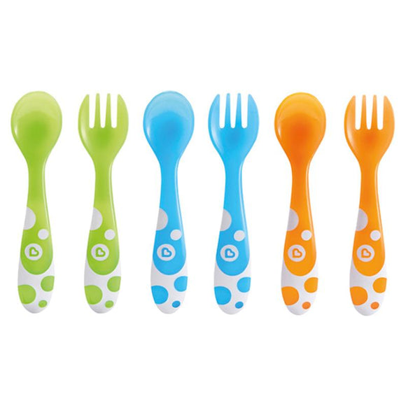 Munchkin Multi Forks & Spoons 6pk - McGreevy's Toys Direct