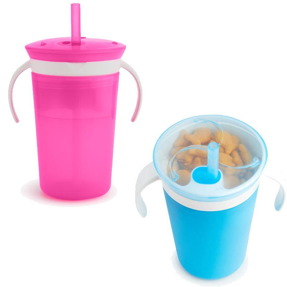 Munchkin Sippy Straw Cup and Snack Catcher - McGreevy's Toys Direct