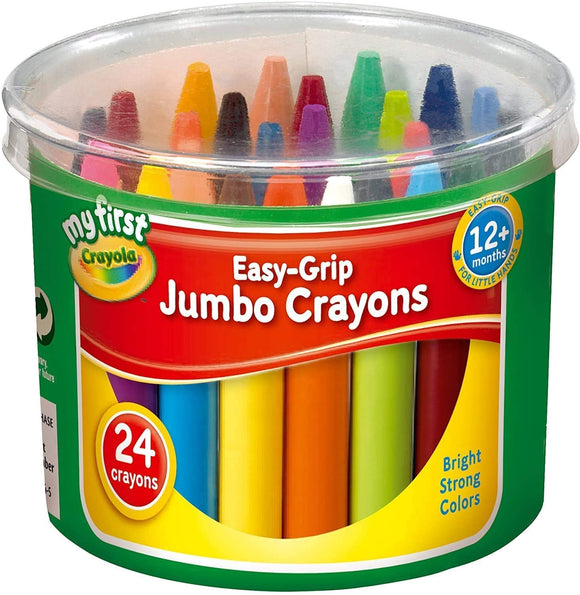 My First Crayola Easy-Grip Jumbo Crayons 24 Pack - McGreevy's Toys Direct