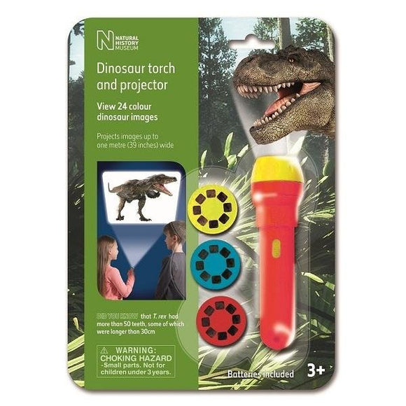 Natural History Museum Dinosaur Torch & Projector - McGreevy's Toys Direct