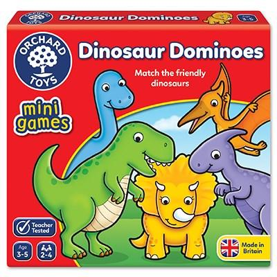 Orchard Toys Dinosaur Dominoes Mini Game - McGreevy's Toys Direct