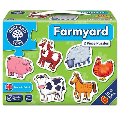 Orchard Toys Farmyard 2-Piece Jigsaw Puzzles - McGreevy's Toys Direct