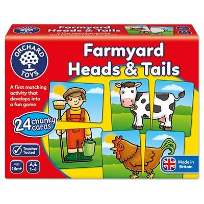 Orchard Toys Farmyard Heads & Tails Game - McGreevy's Toys Direct
